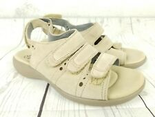 de478f0637c6 CLARKS Collection Womens 7.5 M Soft Cushion Walking Sandals Suede Beige