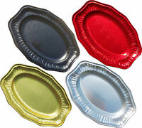 Foil Party Platters Red Black Gold Silver Serving Platter Buffet Catering Food