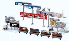 NEW ! HO Faller Model Railroad STATION PLATFORM Details Kit # 120186