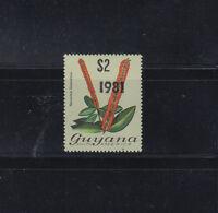 Guyana 1981 2$ Flower ovpt 1981 sans-serif Sc 370  MNH