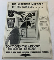 1976 AIP horror trade ad ~ DON'T OPEN THE WINDOW