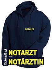 Notarzt / Notärztin Kapuzen Sweat Jacke / Pullover - Brust- + Rückenaufdruck*