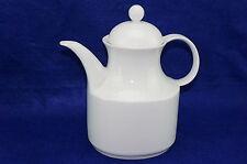 """Kaiser KAI36 White Tea Pot, 6 3/8"""" with Lid, 8 3/8"""" W. Germany"""