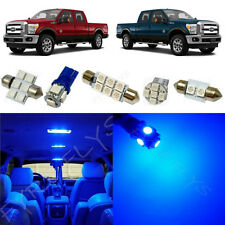 7x Blue LED lights interior package kit for 2011-2015 Ford Super Duty FS2B