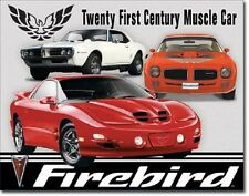 Pontiac Firebir Tribute 21st Century Muscle Car Garage Wall Decor Metal Tin Sign