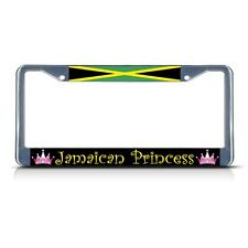 JAMAICA JAMAICAN PRINCESS Chrome Heavy Duty Metal License Plate Frame Tag Border