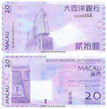 Macau 20 Patacas 2013 (BNU Issue) P-81c Banknotes UNC