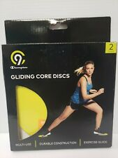 C9 Champion Gliding Core Disks 2 Pack With Exercise Guide Yellow & Black NEW