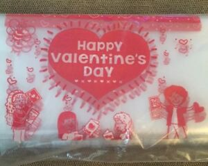"""Really Good Stuff """"Happy Valentines Day Storage Bags Set Of 32"""