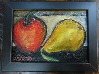 ORIGINAL OIL PAINTING DIRECT FROM ARTIST small fruit still life 5 x 7 c Zachary