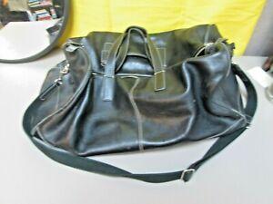 (A) Coach Black Genuine Leather Duffle Bag No. J04S-5402