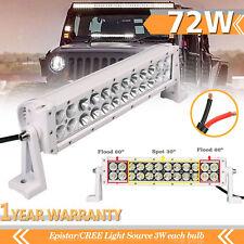 72W 14inch LED Light Bar Fog Lamp Spot Flood Beam for Truck Off Road IP68 White