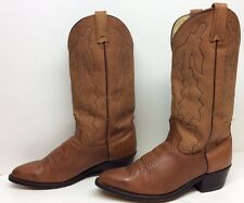 #M MENS DAN POST COWBOY LEATHER BROWN BOOTS SIZE 8 EW