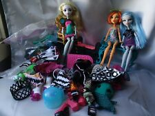 Lot Monster High Dolls Clothes Shoes Accessories Furniture Stand Parts Brushes