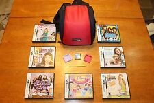 Nintendo DS Red/Black Bag w/ 8 Games 2 Silicone Game Covers 1 Yellow Stylus Pen