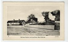 RAILWAY STATION AND LAW BRAE, WEST KILBRIDE: Ayrshire postcard (C18926)