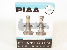 PIAA H7 Platinum LED Headlight Light Bulbs Twin Pack Brilliant White 6000K NEW