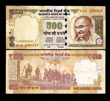 INDIA 500 New Rupee SYMBOL X 3 Pcs Lot GANDHI DANDI MARCH STATUE MONEY BANK NOTE