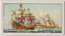 15th Century Sailing Ship Vintage Trade Ad Card
