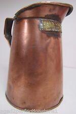 Antique L&M GOLDSTICKER Copper Liquor Beer Measure FULTON St NY pre prob c1900