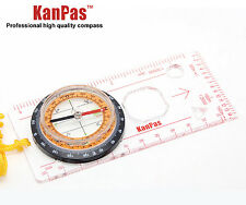 KANPAS outdoor Hiking and  orienteering map ruler compass,MA-45-5C
