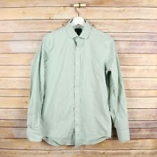 J.CREW Men's Flex Wrinkle Free Thompson Fit Button Front Shirt S Small Green