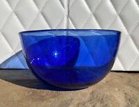 Vintage Cobalt Blue Glass Cereal Bowl