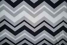 Grayscale Chevron ITY Print #205 Stretch Polyester Lycra Spandex Fabric BTY