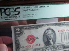 STARRED $2  1928D  LEGAL TENDER  Fr#1505*     PCGS  63 PPQ  CHOICE NEW   NICE+
