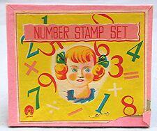 Vintage Number Stamp Boxed Set -- Japan