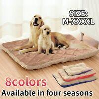 Puppy Cushion Large Pet Dog Cat Bed Mattress Soft Warm Kennel Dog Mat Blanket