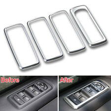 4Pcs Matt Window Switch Button Panel Frame Cover Trim For  Discovery 4 LR4 10-13