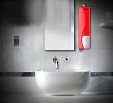 Mini 220V Instant Electric Indoor Tankless Water Heater for Kitchen Bathroom Red