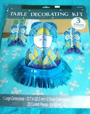 First Communion Centerpiece Table Decorating Kit, Colors Silver, Blue or Pink