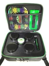 Black Sport Style Locking Stash Box, Rolling Tray, Grinder, Rewrite Strain Jars