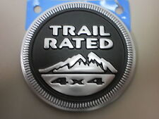 Jeep trail rated badge oem new 55157317AB stick on emblem JK WK KJ TJ WG