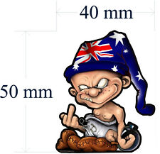 2 SETS HARD HAT AUSSIE DWARF STICKER LEFT AND RIGHT SIZE 50MM BY 40MM