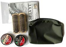 vert bottes militaires SOIN Pochette, noir + marron KIWI lustrant+selvyt+2