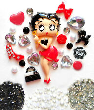 USA --- DIY Betty Boop Bling Phone Case Flatback Cabochons Kawaii Deco Kit Set