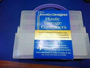 DARICE JEWELRY DESIGNER PLASTIC STORAGE CONTAINERS 2001-50 c48