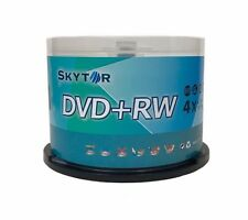 50 SKYTOR 4X DVD+RW DVDRW ReWritable Disc 4.7GB Branded Logo Spindle