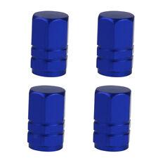 4PC Tire Tyre Wheel Hexagonal Ventil Valve Caps For Auto Car Truck Blue New