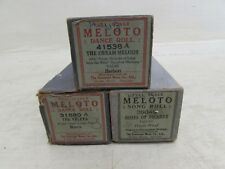 3X Antique/Vintage Pianola Player Pianos Rolls Music Meloto Herbert, Morris...