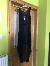 Navy Chiffon Dress/Throwover AX Paris Size 12