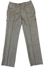 Peter Nygård petites 6 dress pants grey straight herring bone stretch career