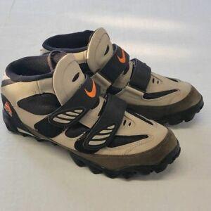 Nike Mens ACG Mountain Bike Cycling Shoes Brown 184023 Hook Loop Two Bolts 11M