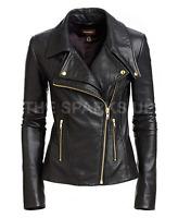 New Women Genuine leather jacket Ladies Slim Fit biker Coat - BEST QUALITY