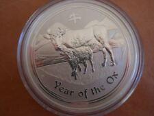 Perth Mint Lunar Year of The OX 5 Oz Rare 2009 Silver .999