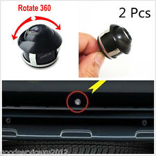 2 Pcs Autos Front Rear 360° Rotatable Reverse Backup Parking CCD Mini Camera Kit