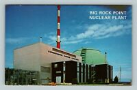Charlevoix MI, Big Rock Point Nuclear Power Plant, Chrome Michigan Postcard